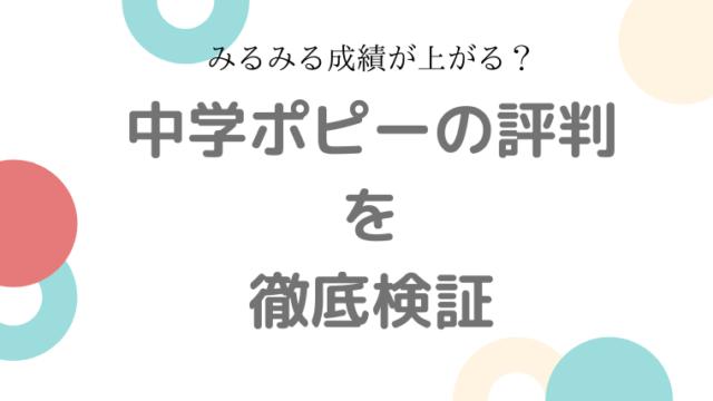 中学ポピー 評判